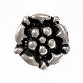 Senmiddelalderlige knapper med rosen, tin, sæt af 5 stk