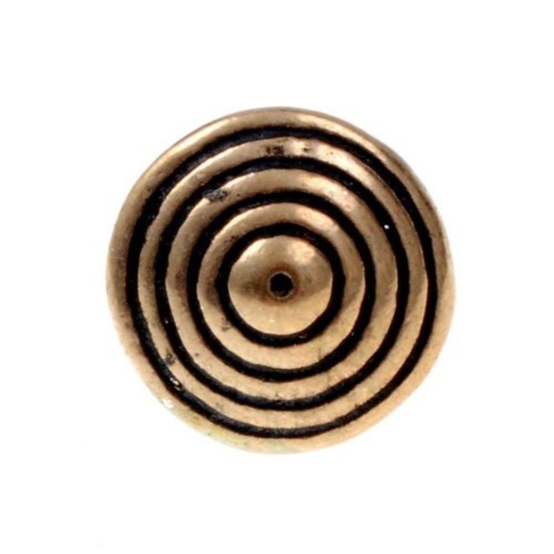 15 ° tasto bronzo secolo con scanalature, set di 5
