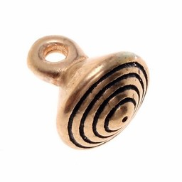 15: e århundradet brons knappen med spår, set om fem