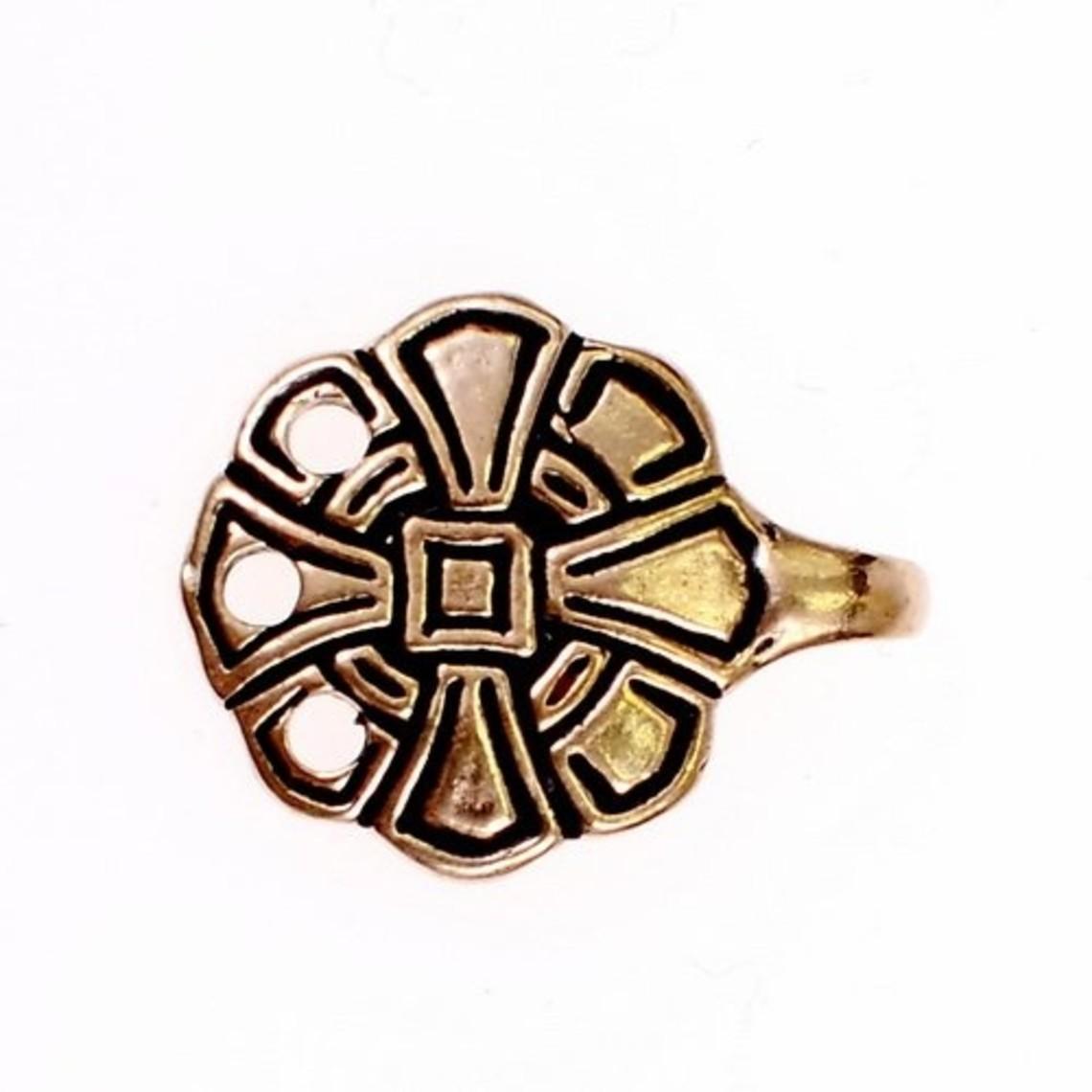 Angelsaksische sluitingen voor beenwindsels, brons