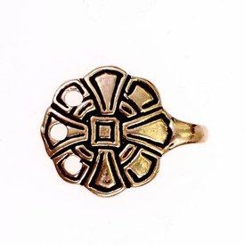 Anglosaxiska krokar för benet omslag, brons
