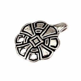 Anglosaxiska krokar för ben omslag, försilvrade