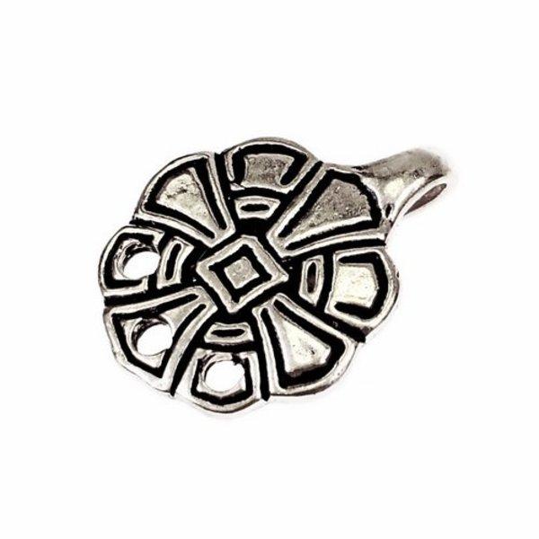 ganchos anglosajones para envolturas de pierna, plateadas