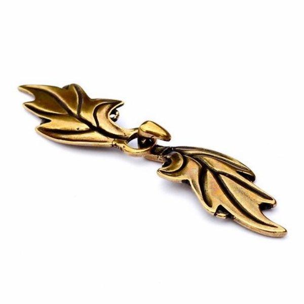 Elven cloak clasp, bronze
