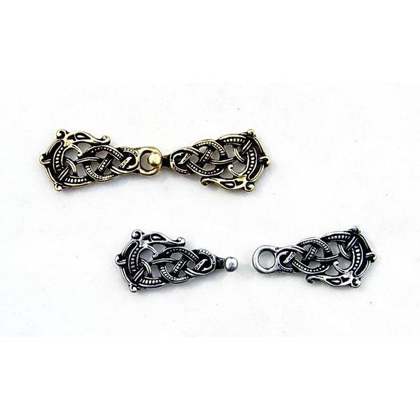 Mantelsluiting met Midgardslang, bronskleur