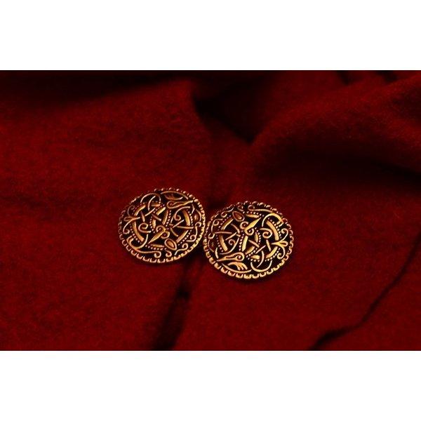 Cloak clasp Urnes style, bronze color