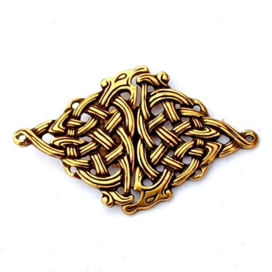fermoir manteau celtique, couleur bronze