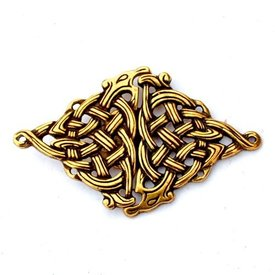 Celtic cloak clasp, bronze color