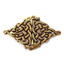 chiusura mantello celtica, color bronzo