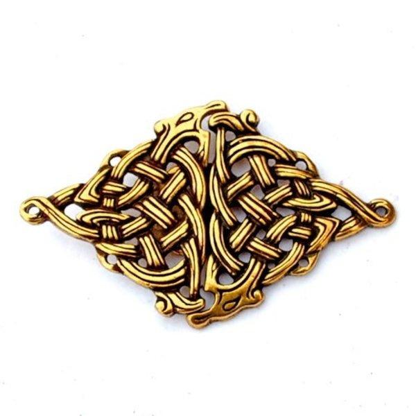Celtic cloak clasp, silvered