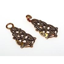Bronze cloak clasp with Midgard snake