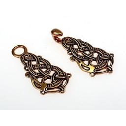 catenaccio mantello bronzo con Midgard serpente