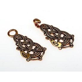 fermoir manteau en bronze avec serpent Midgard