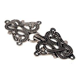 Cape de style Midgard serpent Urnes, argentait