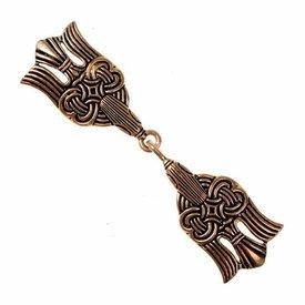 Rusvik cloak clasp, bronze