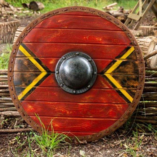 Epic Armoury LARP skjold Thegn, rød, 70 cm