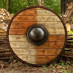 LARP tarcza Thegn biały drewna 70 cm