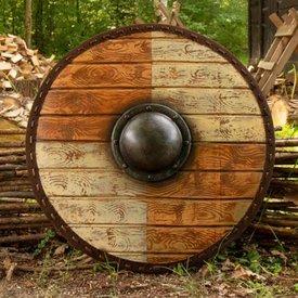 Epic Armoury LARP escudo Thegn, blanco de madera, 70 cm