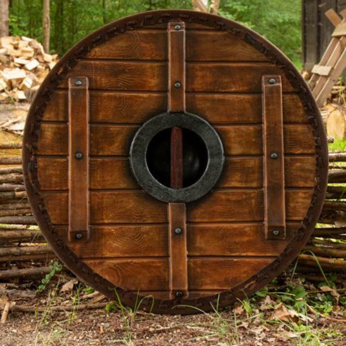 Epic Armoury LARP schild Thegn, wit-hout, 70 cm