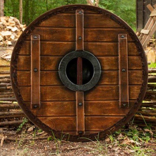 Epic Armoury LARP schild Thegn, wit-hout, 70 cm