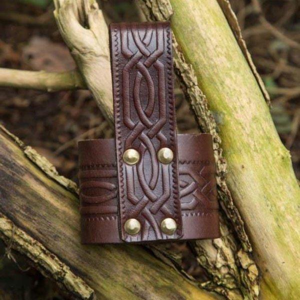 Epic Armoury Läder dricka horn hållare Edda, brun
