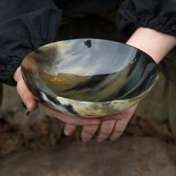 Horn bowl 20 cm, dark