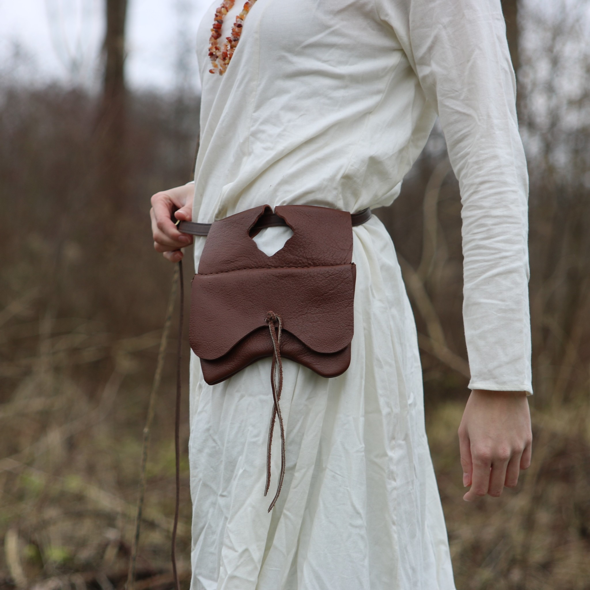 Bag with three compartments