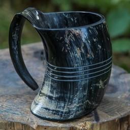 Horn Tasse Shetland, dunkel