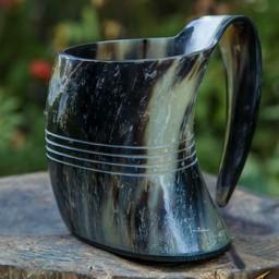 Taza en cuerno Shetland, clara