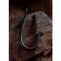 Hand-forged steel wall hook