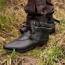 Epic Armoury Medeltida boots Godfrey, svart