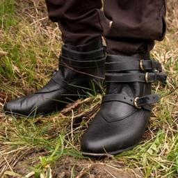 Mittelalterliche Stiefeletten Godfrey, schwarz