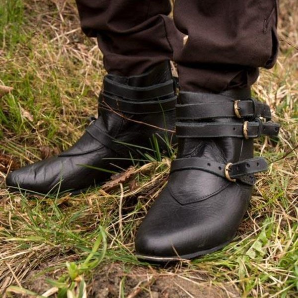 Epic Armoury Medieval ankle boots Godfrey, black