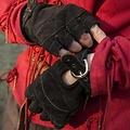 Epic Armoury Guantes sin dedos de gamuza, negro