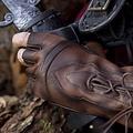 Epic Armoury Fingerlose Handschuhe mit Schnürsenkeln, braun