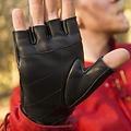Epic Armoury Fingerlose Handschuhe mit Schnürsenkeln, schwarz