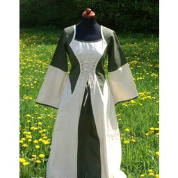 Dress Morrighan (verde-bianco)