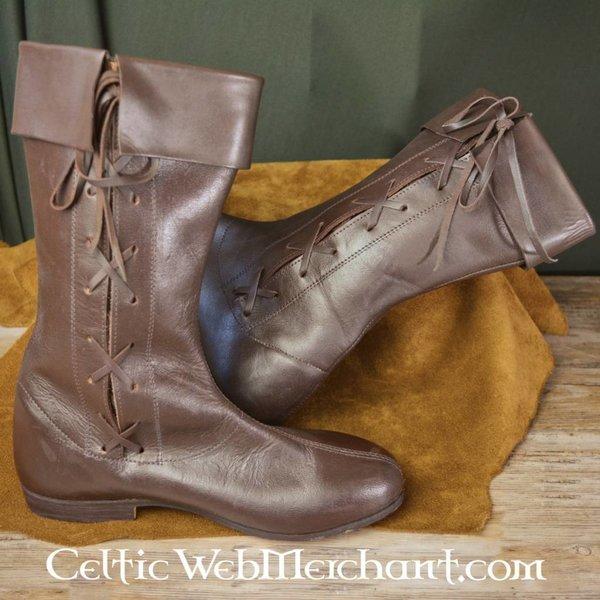 Ulfberth Côté lacé bottes, marron foncé