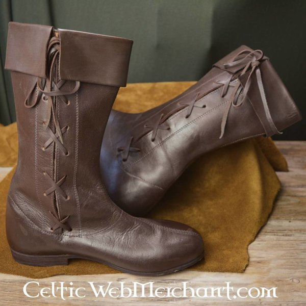 Ulfberth Side laced high boots, dark brown