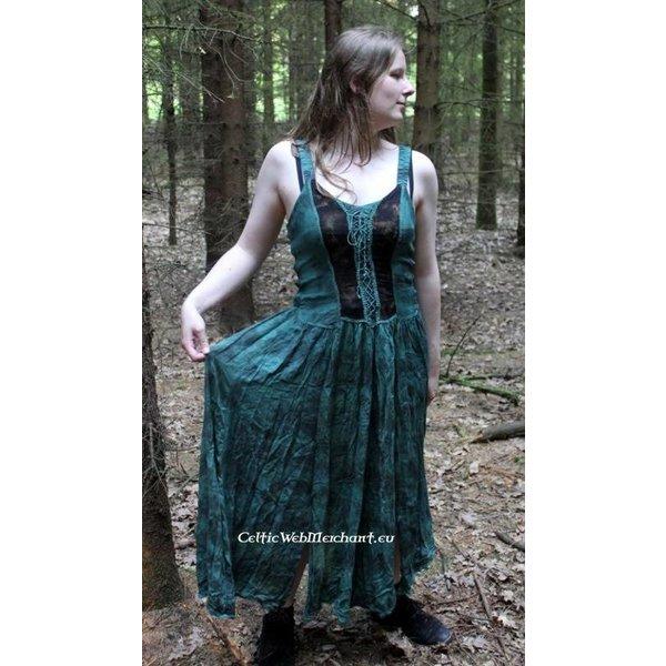 Klänning Aibell, svart-röd
