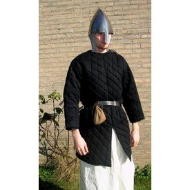 Gambeson with removable sleeves, black