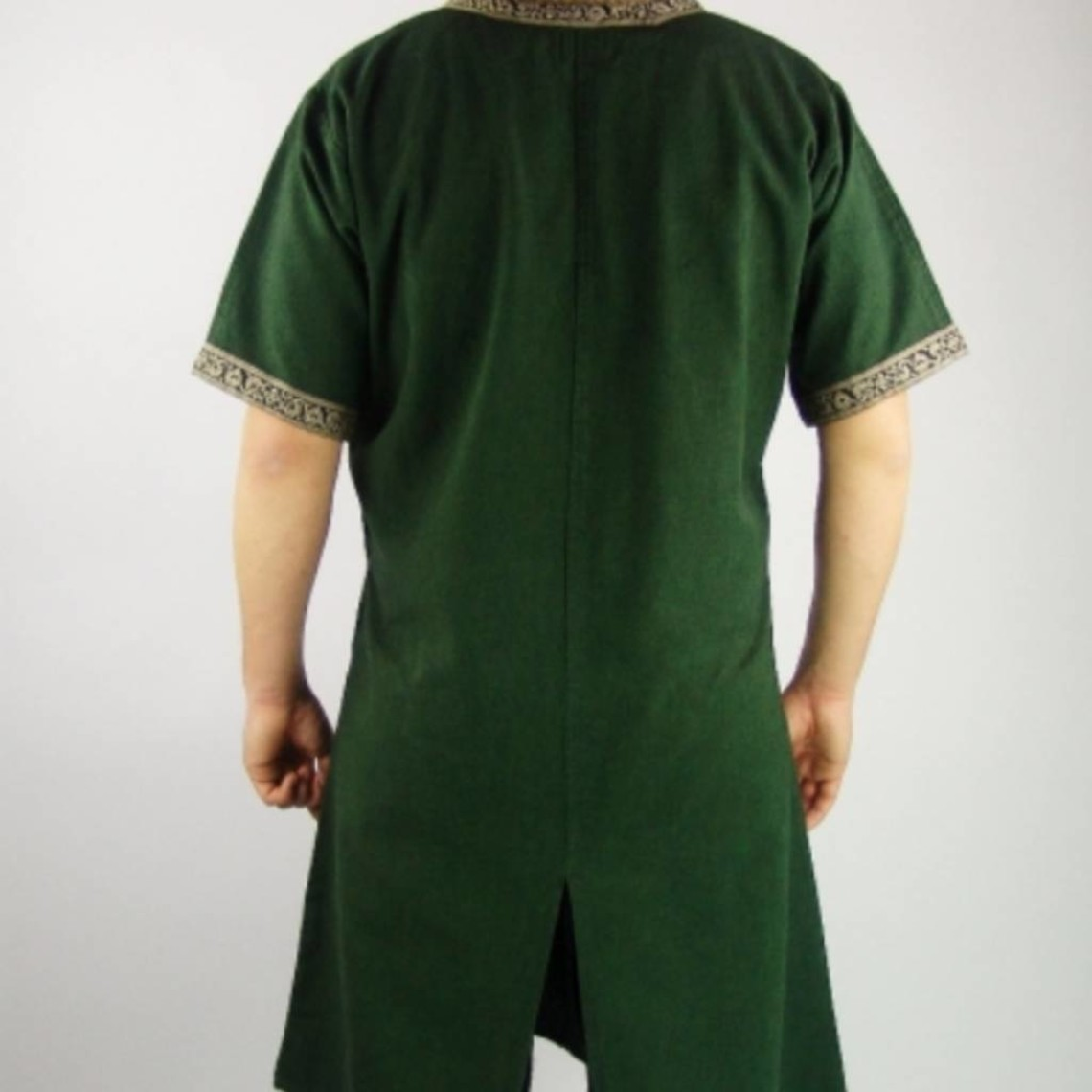 Leonardo Carbone Keltische tuniek, korte mouwen, crème
