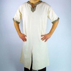Leonardo Carbone Tunika celtycka, krótkie rękawy, kremowy