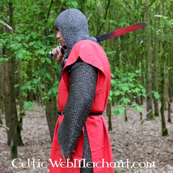 Leonardo Carbone Surcoat, checked, yellow-red