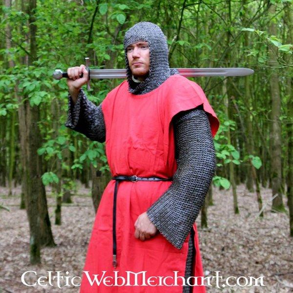 Leonardo Carbone Surcoat, checked, white-red