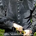 Leonardo Carbone Doblete de terciopelo con botones de metal, negro
