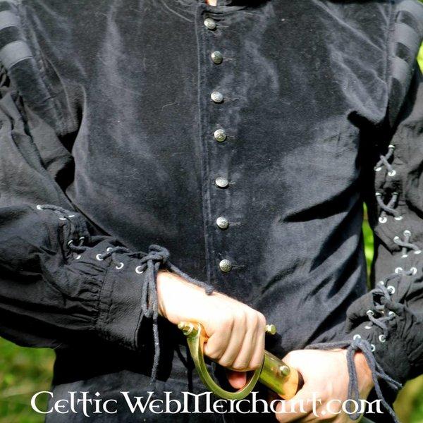 Leonardo Carbone Fløjlsvams med metal knapper, sort