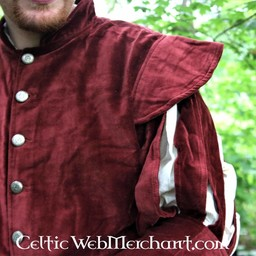 Jacket with open sleeves, red
