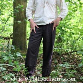Spodnie na guziki, brązowy