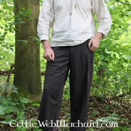 Trousers with buttons, cream